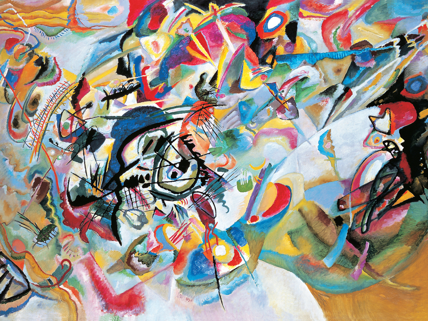 Wassily Kandinsky, Composition VII, 1913, Oil on canvas, 200 x 300 cm, The State Tretyakov Gallery, Moscow