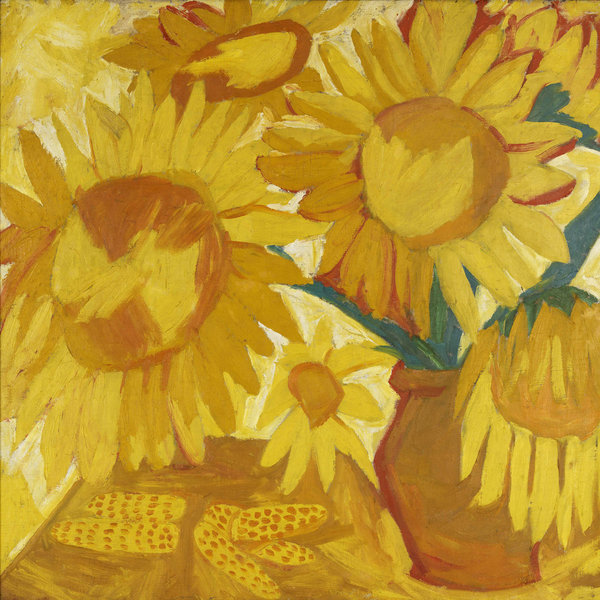 "Natalia Goncharova's still life ""Sunflowers"" (1908-9). Credit 2014 Natalia Goncharova Artists Rights Society (ARS), New York/ADAGP, Paris; Petr Aven Collection"