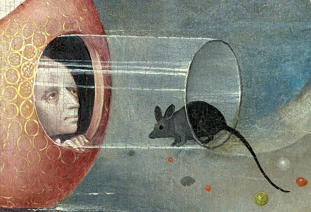 "Hieronymus Bosch, ""The Garden of Earthly Delights"" (detail) (via Wikimedia)"
