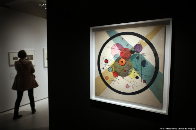 Wassily Kandinsky's 'Circles in a Circle, 1923' is displayed at the 'Bauhaus Art as Life' exhibition at The Barbican on May 2, 2012 in London, England. (Photo by Peter Macdiarmid/Getty Images)
