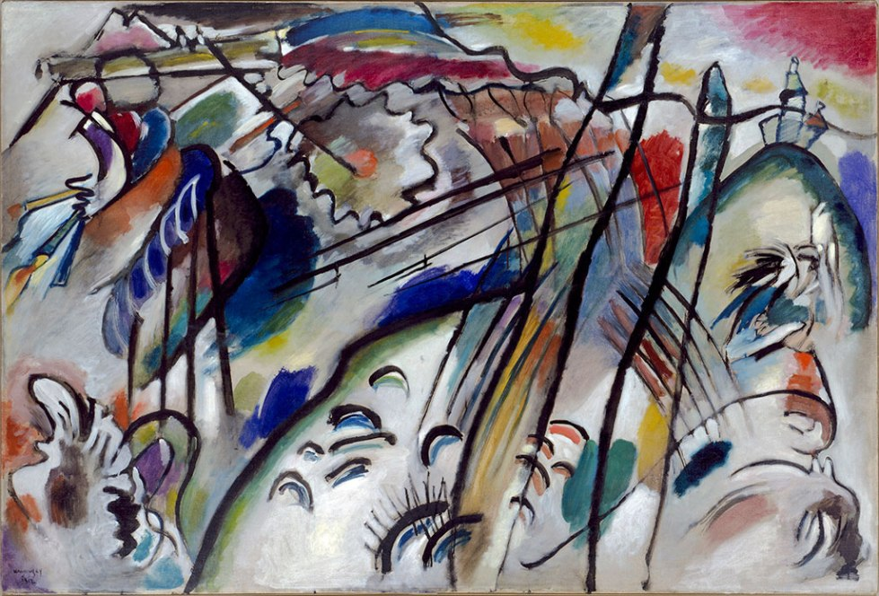 Vasily Kandinsky, Improvisation 28 (second version) (Improvisation 28 [zweite Fassung]), 1912. Oil on canvas, 111.4 x 162.1 cm, Solomon R. Guggenheim Museum, New York Solomon R. Guggenheim Founding Collection, By gift 37.239. © 2015 Artists Rights Society (ARS), New York/ADAGP, Paris