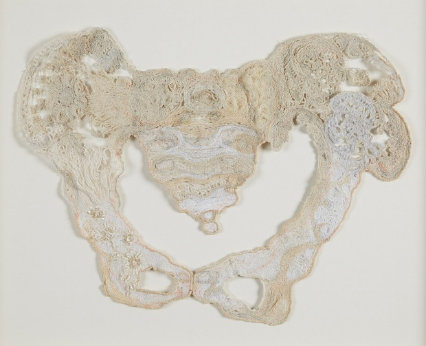Taking a line for a (long) walk … Pelvis by Lois Langmead, winner of a student award, Jerwood drawing prize