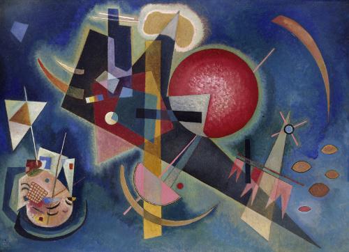 Wassily Kandinsky, In Blue, 1925 Kunstsammlung Nordrhein-Westfalen, Dusseldorf Acquired by a donation of the Westdeutscher Rundfunk Photo: Walter Klein, Dusseldorf