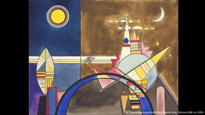 "The Great Gate of Kyiv This year, the art world is celebrating the 150th birthday of Russian painter Wassily Kandinsky - an appropriate occasion for bringing the original designs of his stage production ""Pictures at an Exhibition"" to Dessau, where the work premiered in 1928. The paintings were based on the piano cycle with the same title by composer Modest Mussorgsky."